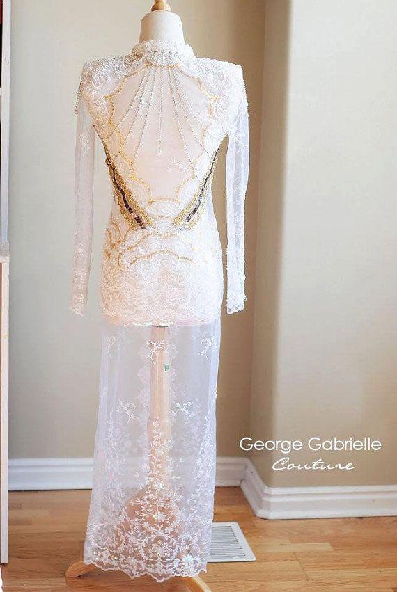 Indonesian Kebaya Wedding Dress Gown Custom by georgegabrielle, $2000.00