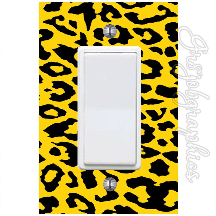 Cheetah Print Light Switch Cover with Decal Leopard Spots Print Wall Decor LS25