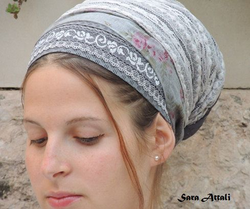Marvelous Greys Lace Tichel For Special by SaraAttaliDesign