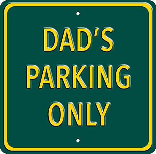 """""""Dad's Parking Only"""". Heavy Duty Wall Sign. A great gift or present for dad's birthday, christmas, fathers day Red Hot Lemon http://www.amazon.co.uk/dp/B00TFWB5FS/ref=cm_sw_r_pi_dp_5IK2ub1D9A3VH"""