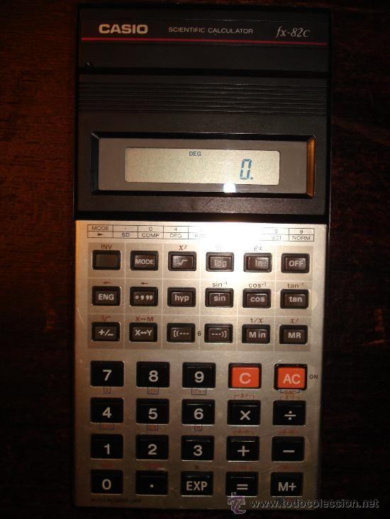 CALCULADORA CIENTÍFICA CASIO fx-82C-AÑOS 80