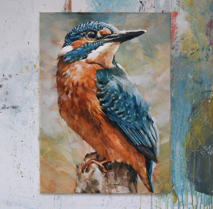 'Kingfisher', oil on canvas, Dorus Brekelmans 2017