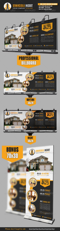 Real Estate Business Billboard Template #design Download: http://graphicriver.net/item/real-estate-business-billboard/3192543?ref=ksioks