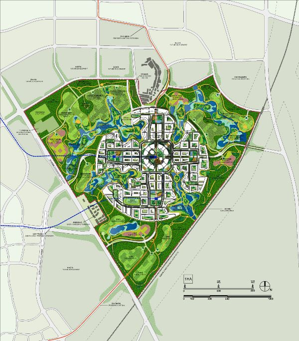 Great City master plan in China