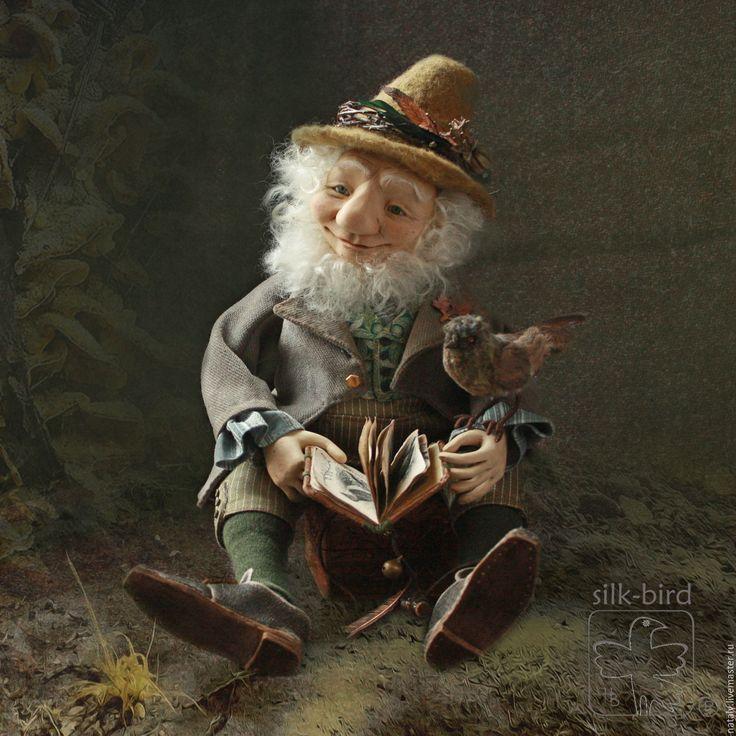 Купить Лесной эльф мистер Гринли - оливковый, зеленый, эльф, кукла интерьерная, волшебный лес