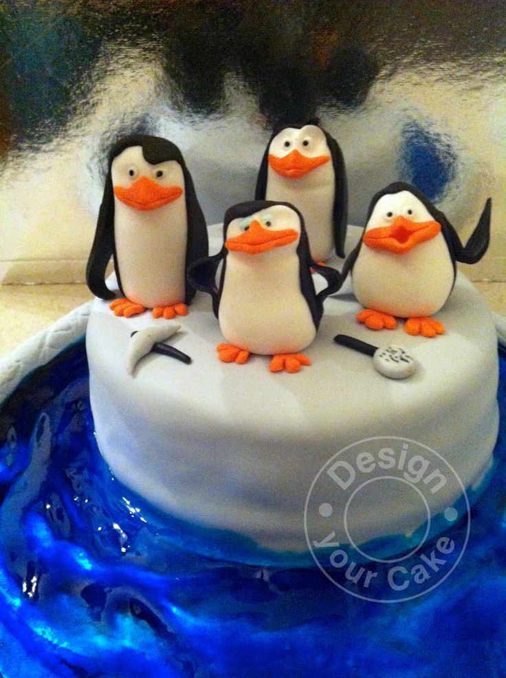 Penguin of madagascar red velvet cake…