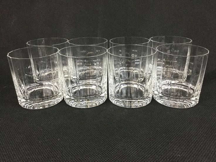 Dansk Facette Round EIGHT Double Old Fashioned Glasses #Dansk