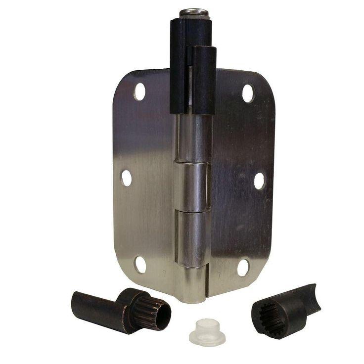 Express Products Oil Rubbed Bronze Adjustable Bumper Less Hinge Pin Door Stop Door Saver Catches Door Stopper Hinge Pin Door Stop