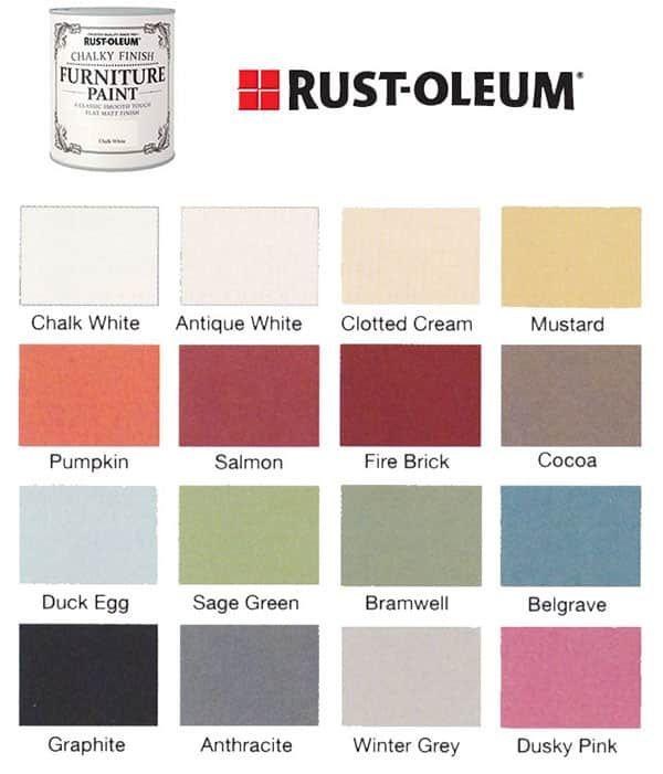 7 Best Chalk Paint Brands 2021 Professional Review Paint Color Chart Rustoleum Chalk Paint Colours Chalk Paint Colors