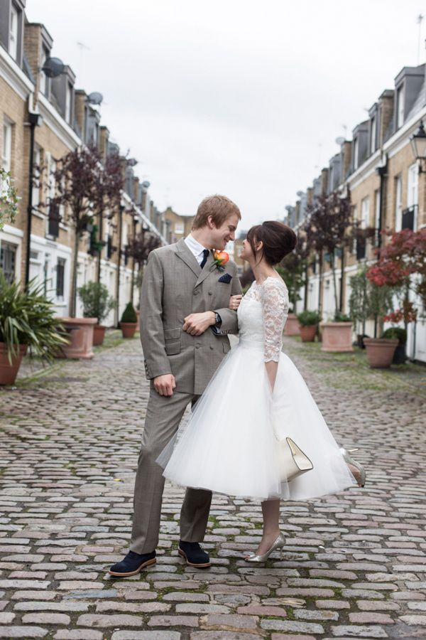 A Candy Anthony Gown For A 1960s Mod Inspired Wedding
