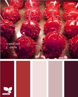 reds.: Colors Combos, Design Seeds, Bedrooms Colors, Candy Apples, Colors Palettes, Colors Schemes, Candy Red, Colour Palette, Colors Inspiration