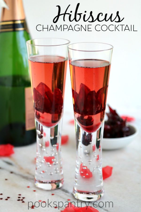 Easy Hibiscus Champagne Cocktail For Valentine S Day Recipe In 2020 Valentines Recipes Desserts Champagne Cocktail Low Carb Pumpkin Cheesecake