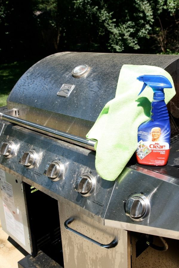 I have got to try that Mr. Clean Outdoor Pro cleaner.  Nothing I've tried on our grill gets the stainless steel looking that bright and clean.