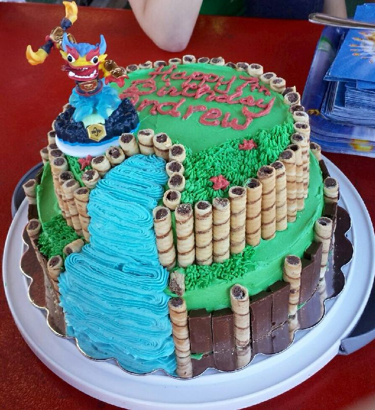 Skylander Swap Force Cake. Chocolate cake with dark chocolate mousse filling and…