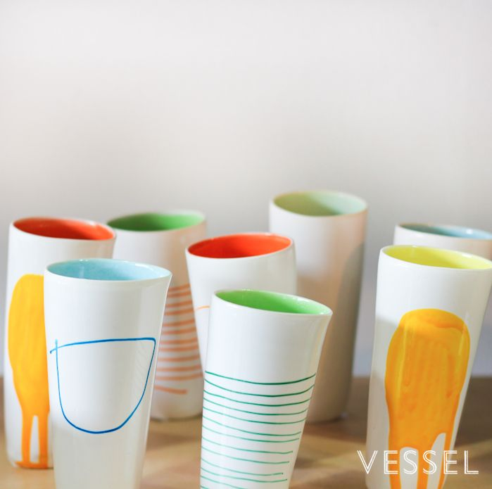 Vases by Otago ceramicist Amanda Shanley vessel.co.nz