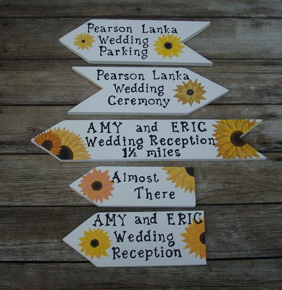 PERSONALIZED WEDDING SIGNS Set of 5 Signs Wedding by TheRightJack, $160.00