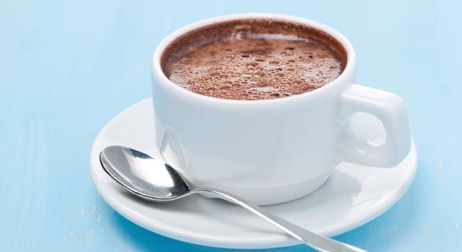 Two favorites that pair well together, red wine and dark chocolate, combine in this warm-you-up, make-you-happy drink.