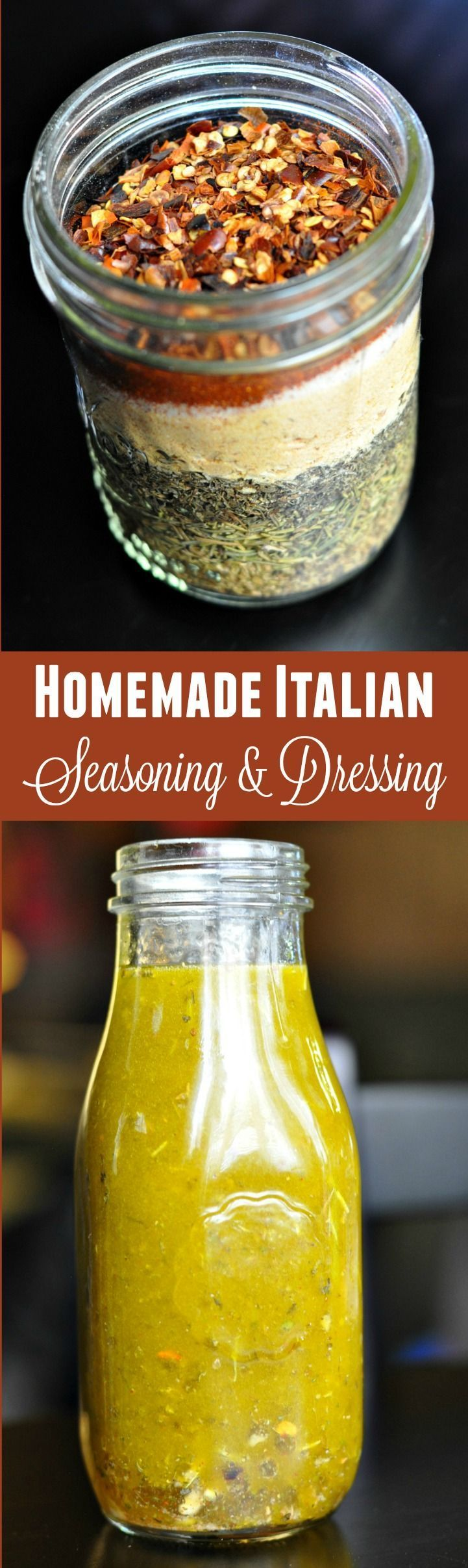 It's so easy to make your own Italian seasoning spice mix and Italian dressing! All you need is a few simple ingredients to get started with these recipes