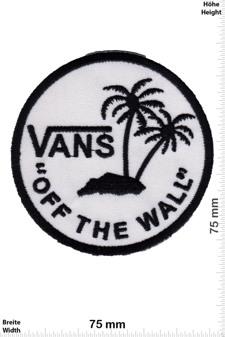 "Patch - VANS ""off the Wall"" - round - Cool Brands Patch - Streetwear - Vintage - Vest - Iron on Patches - Embroidered Applique - Compilation: Amazon.ca: Home & Kitchen"