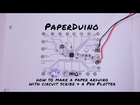 Paperduino 2.0 with Circuit Scribe - Paper Arduino