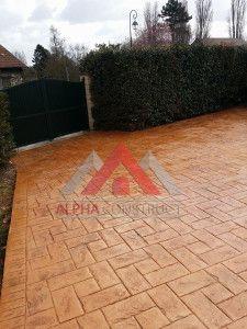 Sol décoratif en béton estampé – Excellent rapport tarifs : qualité pour sols décoratifs.