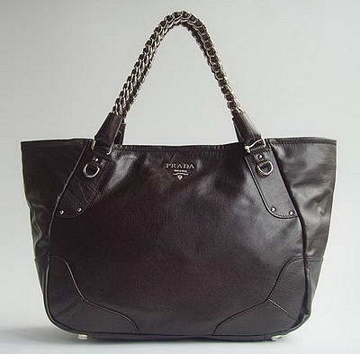 Prada 16833 Morden Style Handbag-Dark Coffee