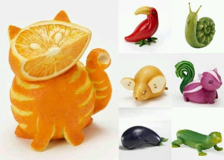 Sculture di frutta....