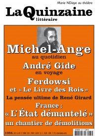 La Quinzaine Littéraire #1034 : Michel-Ange au quotidien