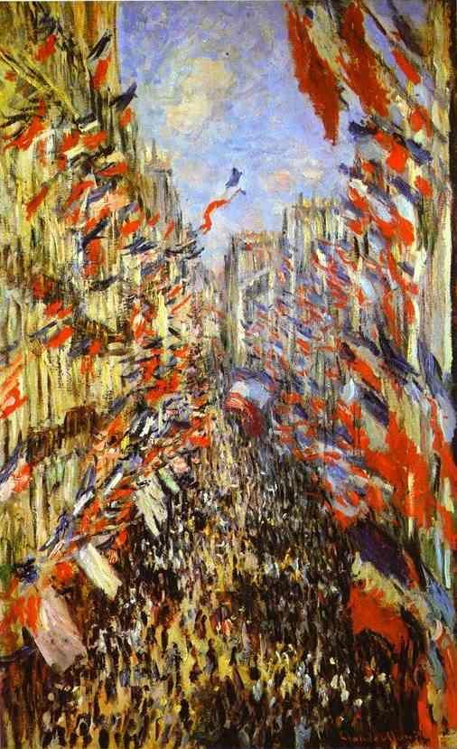 Monet...La rue Montorgueil, fête du 30 juin 1878 (1878)