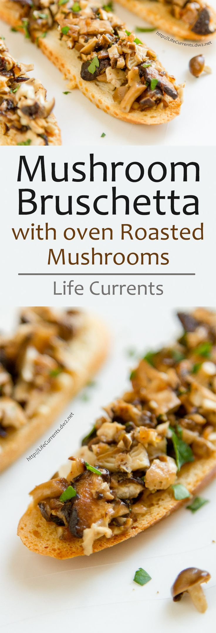 Mushroom Bruschetta is a super tasty and easy to make appetizer that's sure to please any mushroom lover!