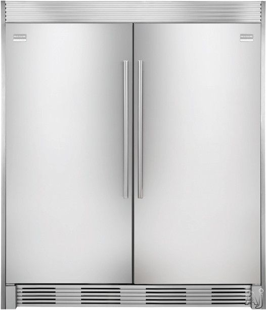 Frigidaire Professional Series FPUH19D7LF. 18.6 cu. ft. All Freezer with 3 Full-Width Cantilever Glass Shelves, 2 Full-Width Freezer Baskets, Performance Lighting, Factory Installed Ice Maker and Optional Trim Kit for Built-in Look (shown next to All Refrigerator)