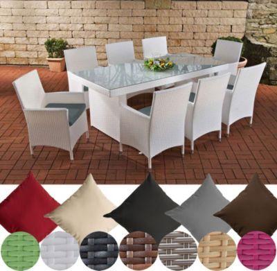 Polyrattan Essgruppe AVIGNON BIG (Tisch 200 x 90 cm + 8 x Polyrattan Stuhl Julia + Sitzauflagen), bis zu 7 Rattan-Farben und 5 Bezugsfarben wählbar Jetzt bestellen unter: https://moebel.ladendirekt.de/garten/gartenmoebel/gartenmoebel-set/?uid=2defe9c1-44b4-5813-afa2-a91b41892202&utm_source=pinterest&utm_medium=pin&utm_campaign=boards #garten #gartenmoebel #gartenmoebelset