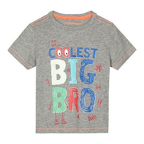 bluezoo Boys' grey 'I am the coolest big bro' t-shirt | Debenhams