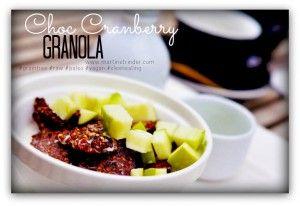 Choc Cranberry Granola