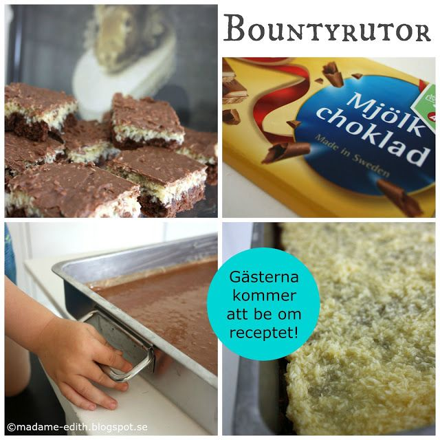 Madame Edith - Recept: Bountyrutor