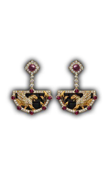 Love Gemstone Jewellery 9ct Gold Tiger Eye Earrings Gemstone Bead Drops CgssLxhkrS
