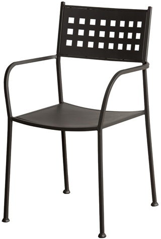Basket Back Outdoor Patio Chair. Black Zinc Powder Coat Finish And  Reinforced Stability. The Outdoor Patio Chair Can Be Purchased Online Or  Call
