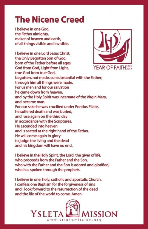 nicene creed new version pdf