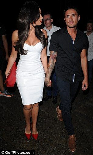Date night: Vicky Pattison hoped to rival Danielle in the bust stakes as she too slipped o...