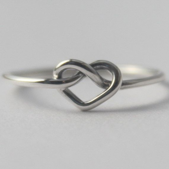 Heart Ring , Infinity Love Symbol.