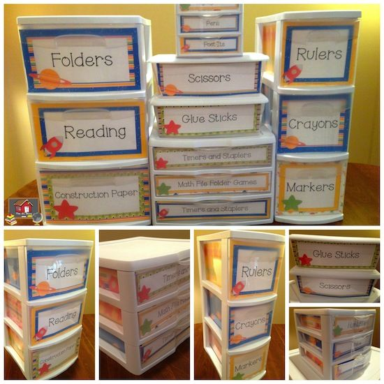 Space Theme Sterlite Container Templates!  Do you like to organize your classroom with clear Sterlite containers of different sizes, but hate that everyone can see inside when it is not always the neatest? The Organized Classroom has solved your problem with these super easy to customize and print templates for the drawers! $