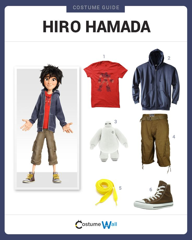 Dress Like Hiro Hamada from the movie, Big Hero 6. See more costumes and cosplays of Hiro.