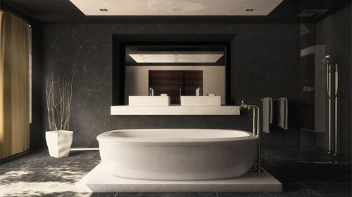 Did you that Contemporarybathrooms borrow ideas from modern bathroom styles but include aspects that are inspired by other styles as well. #homedecor #interiordeisgn #homeimprovement #remodel #art #decor #Contemporarybathroom #Contemporarybathrooms