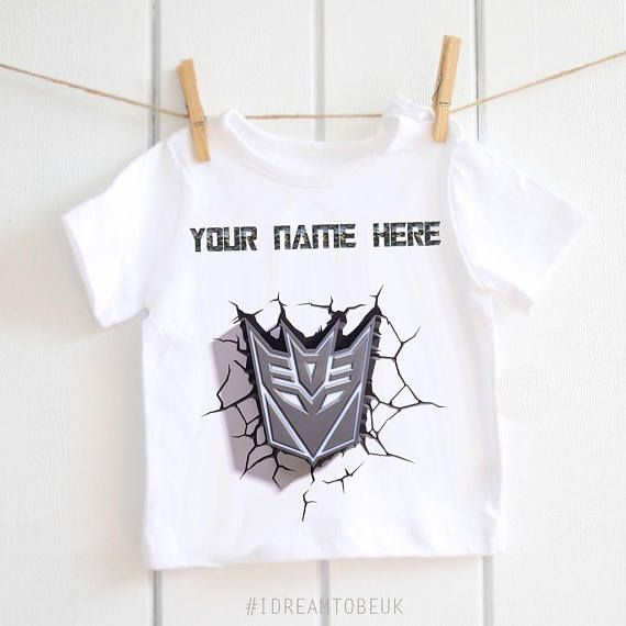 Transformers personalised t-shirt  baby shower gift