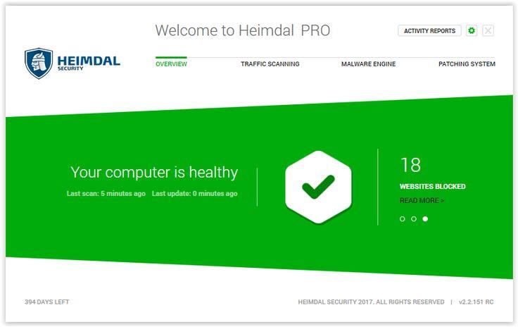 Disponibil în trei versiuni diferite (Heimdal FREE, Heimdal PRO și Heimdal CORP), scopul principal al aplicației este de a te proteja de atacurile cibernetice atunci când eşti online.