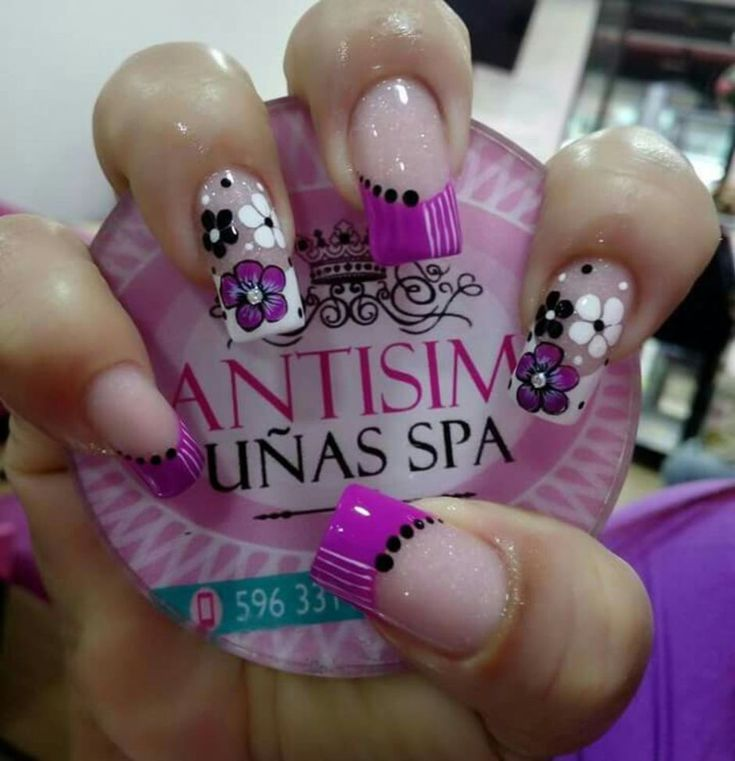 43 best Uñas delicadas images on Pinterest   Pretty nails, Hot pink ...