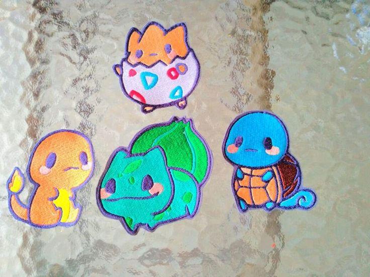 "Diseño Bordado ""Pokemon"" para maquinas bordadoras de MundoBordados en Etsy"