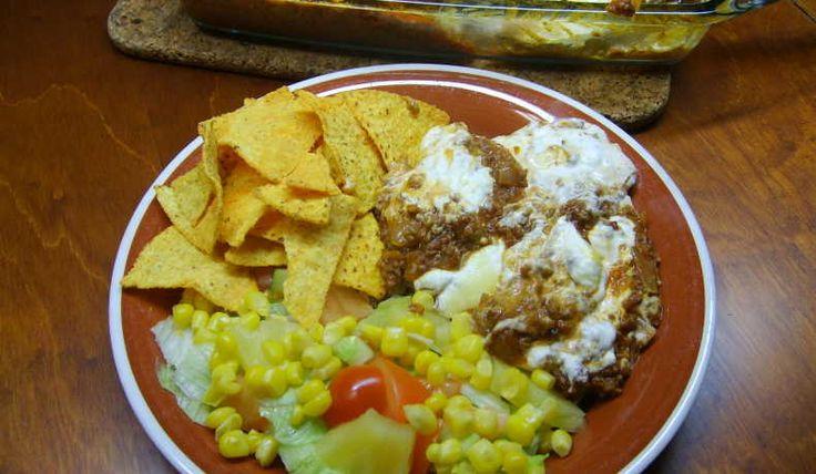 Tacogratäng med köttfärs.