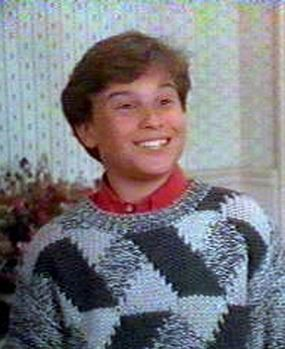 A young Johnny Galecki (Leonard Hofstedler) in his role as a Rusty Griswold in Christmas Vacation.