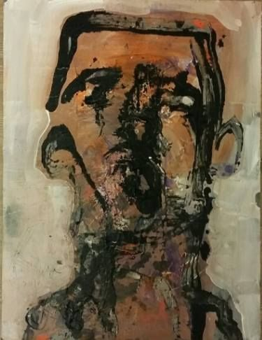 "Saatchi Art Artist Dumitrache Ciprian; Painting, ""THE COMEDIAN"" #art"
